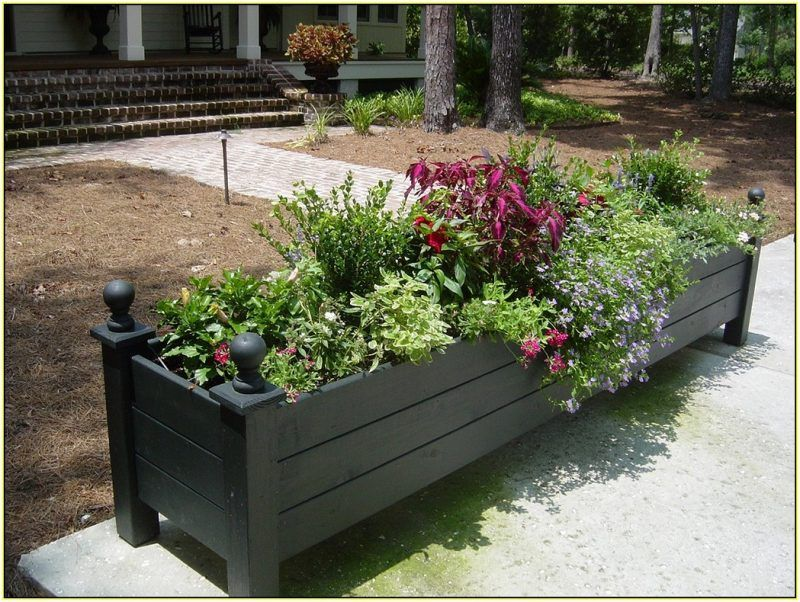 Front Yard Planter Box Ideas For Design Of House Fascinating 32