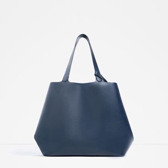 48176e9d9e4 SHOPPER CONTRASTE | White | Bags, Blue bags, Tote Bag