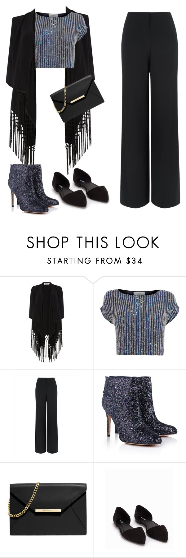 """""""Untitled #38"""" by raregold on Polyvore featuring Soaked in Luxury, Coast, Jaeger, Sam Edelman, MICHAEL Michael Kors and Nly Shoes"""