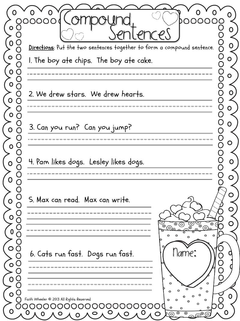 Valentine Freebies.pdf First grade writing, Compound