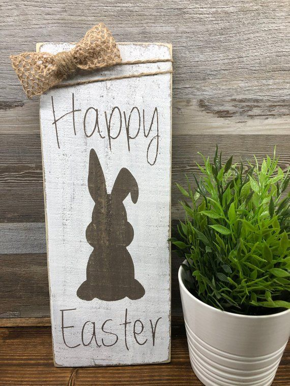 Photo of God påskeskilt • Farmhouse Easter Sign • Rustikk påskedekor • •