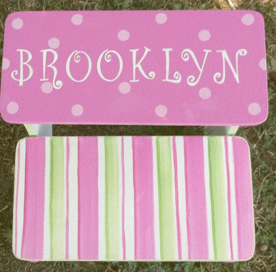 Step Stool Hot Pink Or Lavender Purple Stepstool Bench