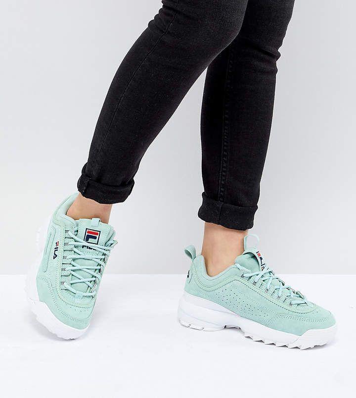 Baskets Fila Disruptor Vert MentheSneakers Premium TKJc3l1F