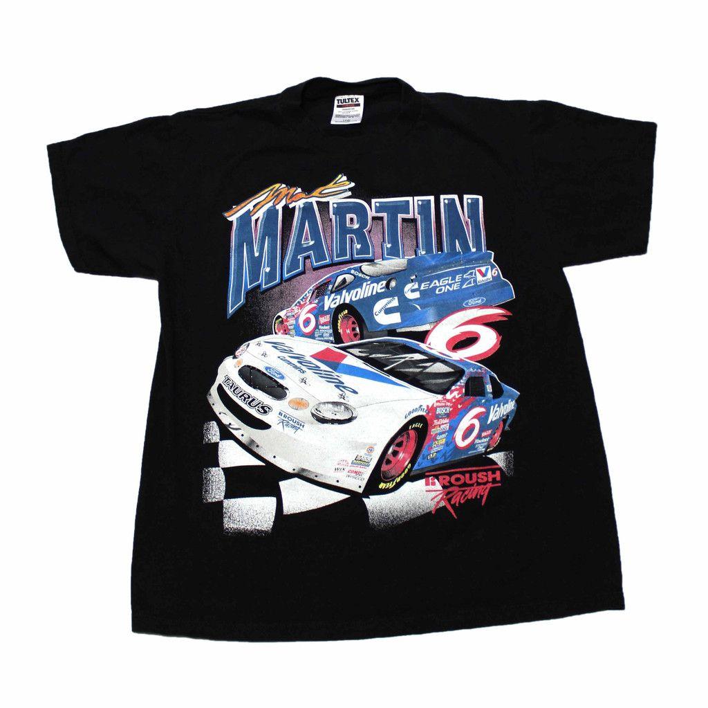 vintage 90s martin nascar shirt mens size large 25