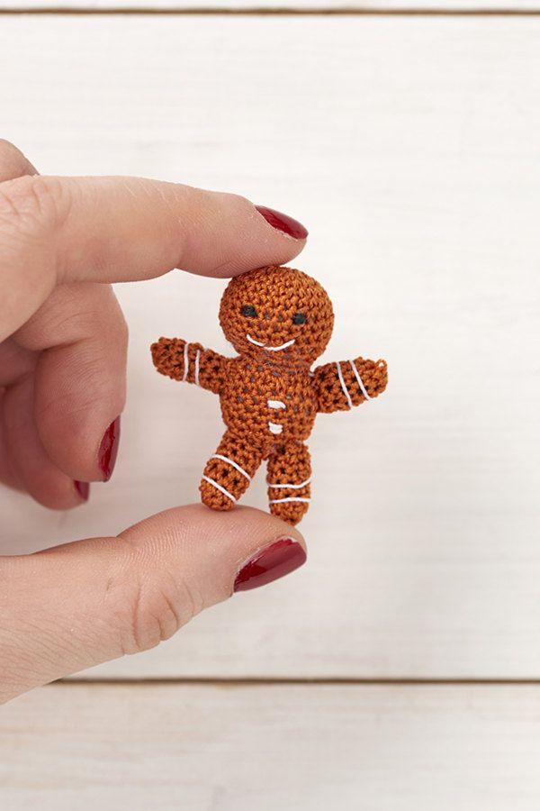 Micro Crochet Gingerbread Man Pdf Crochet Pattern Mollie Makes