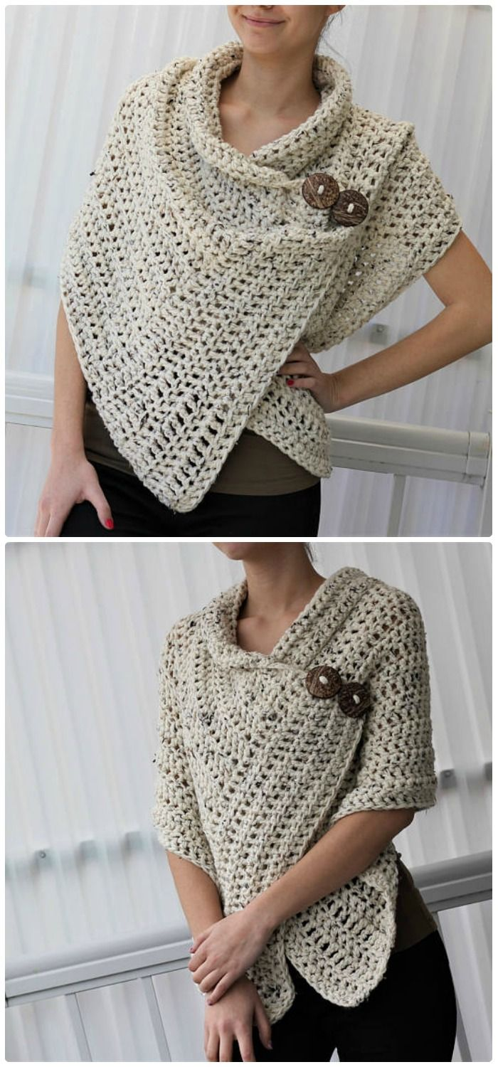 Easy beginner crochet wrap pattern. I love the simplicity of this ...