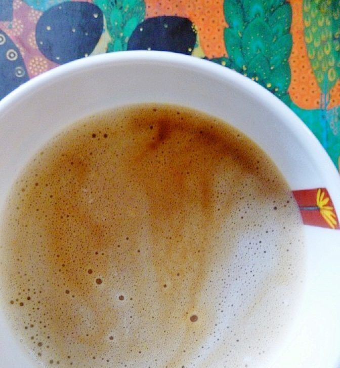 Coconut Milk Chicory Latte W/ Cinnamon