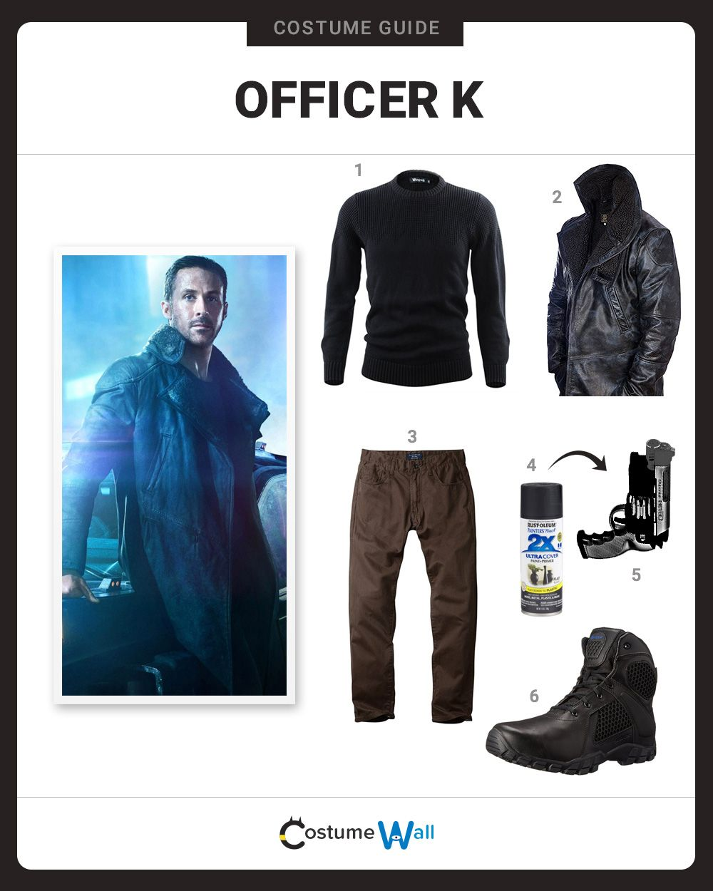 dress like officer k blade runner 2049 2017 movies and costumes