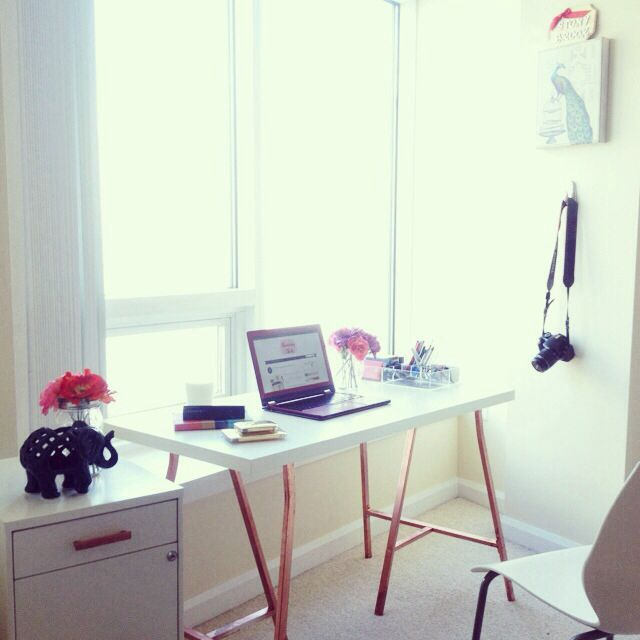 My #homeoffice setup is coming along nicely. #decor #athome #diy #mydesk #ikea #target