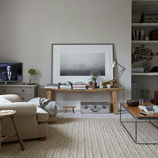 Calm Grey Living Room Found On Envy