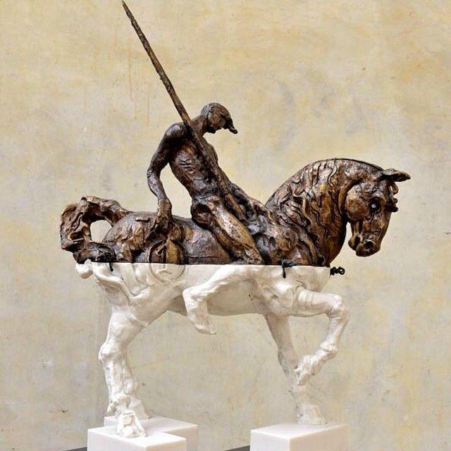 #javiermarinescultor, #javiermarin, #terrenobaldioarte, #escultura, #sculpture, #art, #caballo, #horse, #jinete, #bronze, #bronce, #resinapoliester, #polyesterresin....Don Quichote....or Quixote......