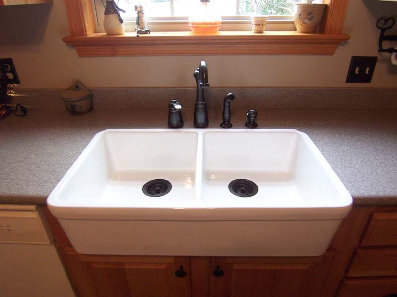 Farmhouse Sink On Laminate It39d Be Easier To Get The