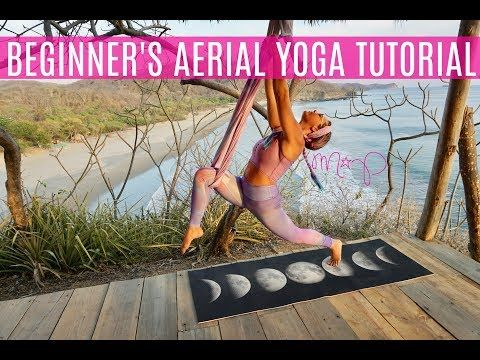 aerial yoga beginner's tutorial  aerial yoga yoga