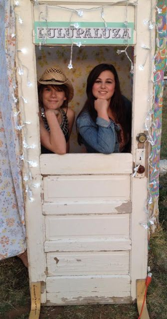another example of the door turned photo booth frame