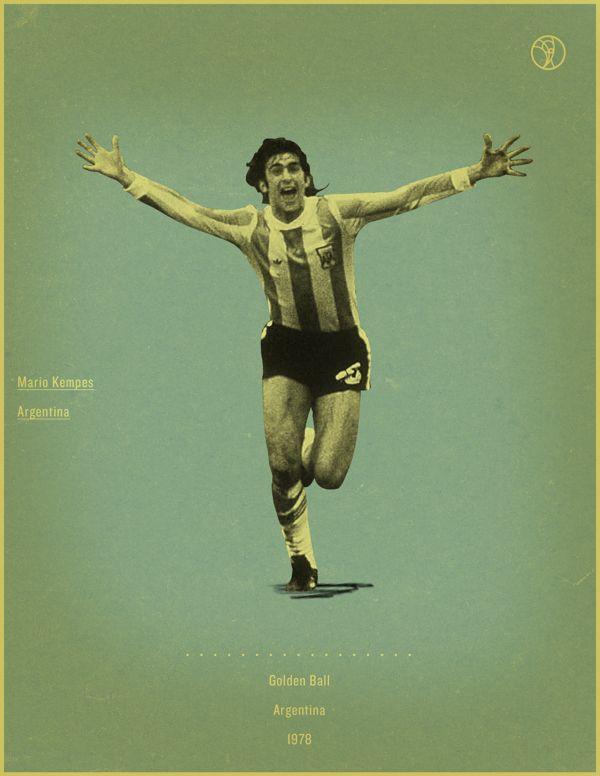 World Cup History Of The Golden Ball By Jon Rogers Via Behance World Cup Retro Football Football Awards