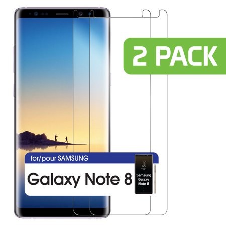 2 Pack Premium Tempered Glass Screen Protector For Samsung Galaxy Note 8 Clear Samsung Galaxy Note 8 Tempered Glass Screen Protector Galaxy Note