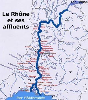 le rhone fleuve carte Carte du fleuve Rhône   Rhone, Bienvenue en france, Fleuve