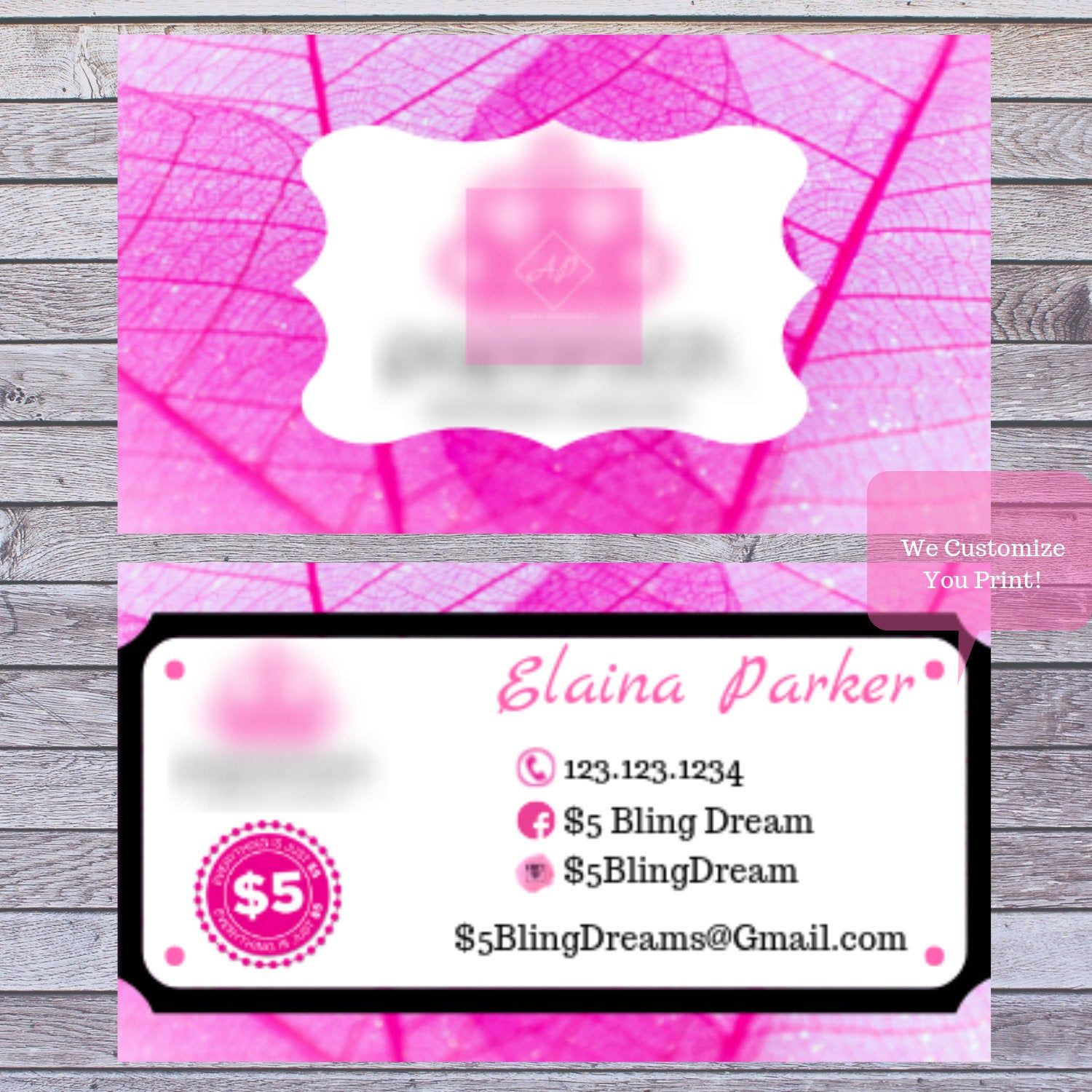 Pin By Cecilia Holguin On Paparazzi Jewelry Custom Business Cards Pink Business Card Etsy Shop Banner