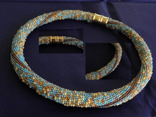 https://flic.kr/p/dTA8hm | bead crochet | with mix picasso beads 11/0