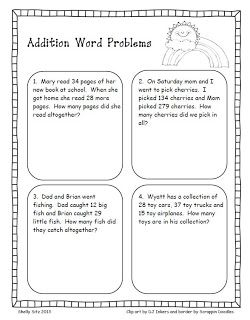 Smiling and Shining in Second Grade: Word Problems for Second Grade ...
