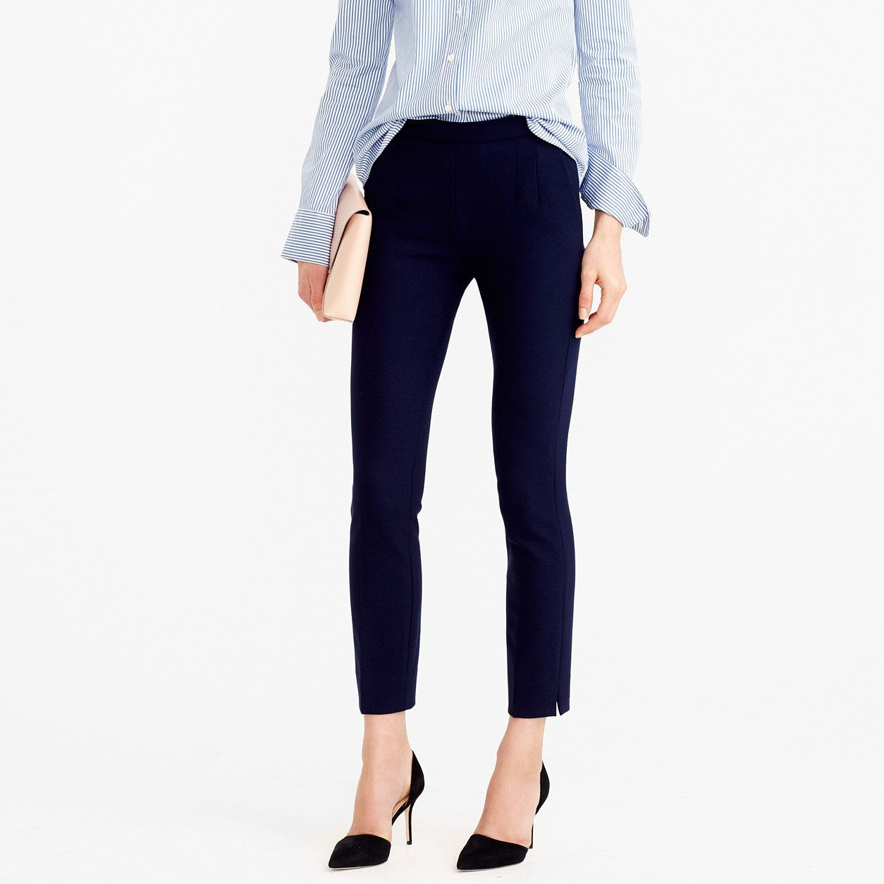 J.Crew Womens Tall Martie Pant In Two-Way Stretch Wool (Size 12