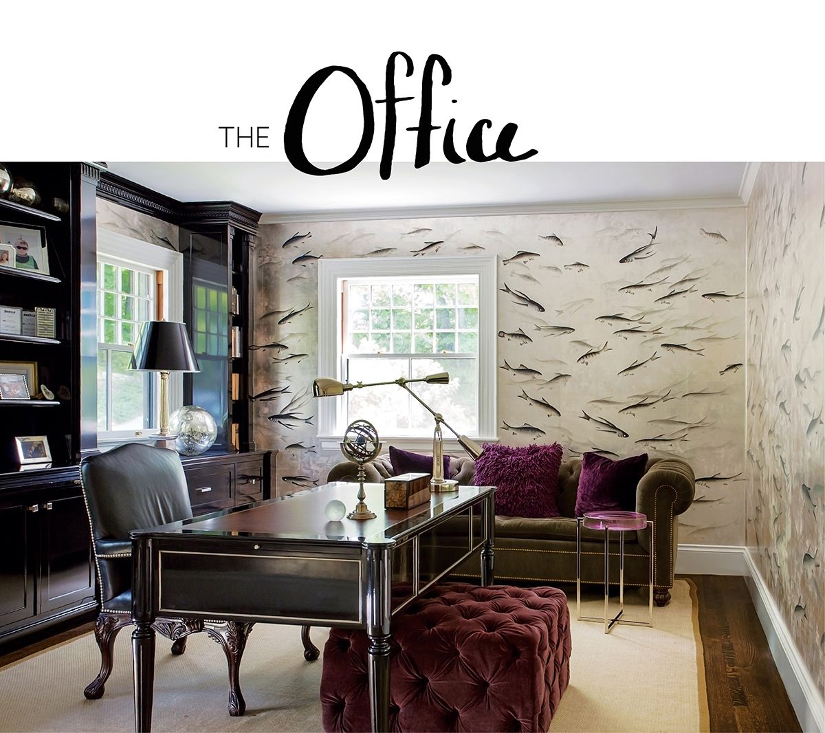 wallpaper designs for office. Kristin Paton Home \u0026 Interiors Designed Award Winning Office With De Gournay Wallpaper. #design #decor #office Wallpaper Designs For N