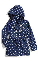 Nordstrom: Pumpkin Patch 'Spotty' Print Trench Coat...if we ever get some rain, for Belle.