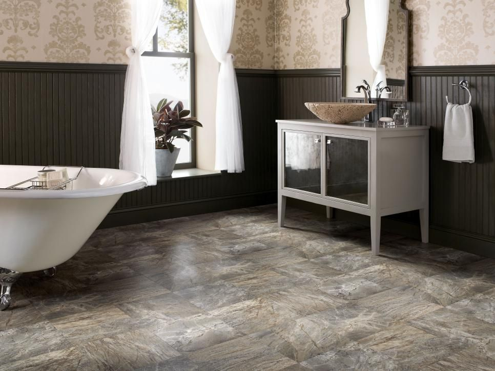 Vinyl Bathroom Floors | Bathroom flooring options, Flooring options ...