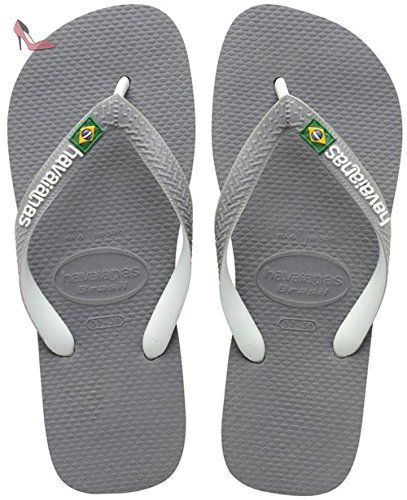 Top Stripes Logo, Tongs Homme, Or (Sand Grey), 47/48 EU (45/46 BR)Havaianas