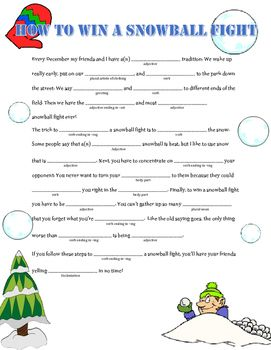 image relating to Mad Libs Printable Middle School titled Wintertime Madlibs Package deal Blaszaks Corner Ridiculous libs, Heart