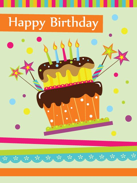 Free Birthday Cards – Happy Birthday Cake Greetings