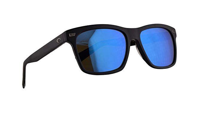 cb6483cb32 Costa Del Mar Aransas Sunglasses Matte Black w Polarized Glass Blue Mirror  580G Lens 57.8