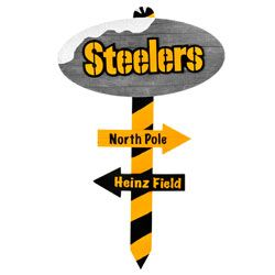 Pittsburgh Steelers North Pole Wood Sign