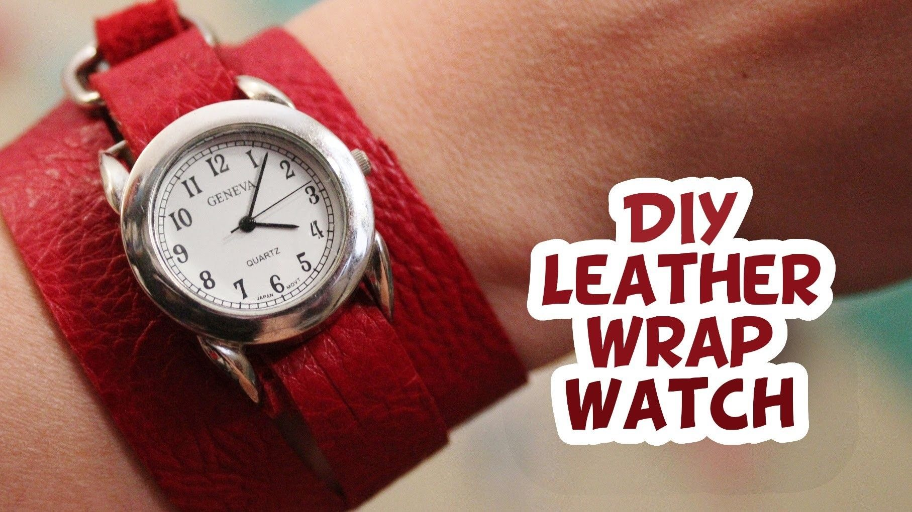 Diy Leather Wrap Watch Easy Whitney Sews With Images