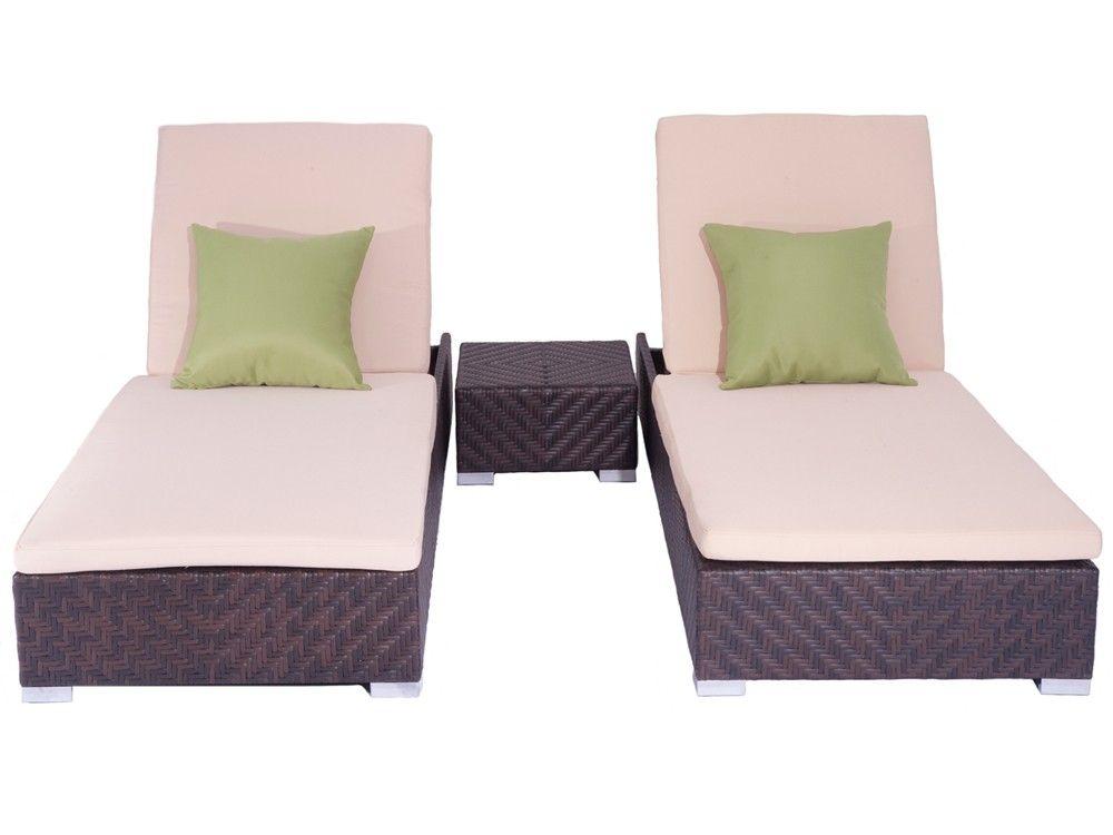 Sunset Beach: 3 Piece Chaise Lounge Set   Unique Patio Furniture Company