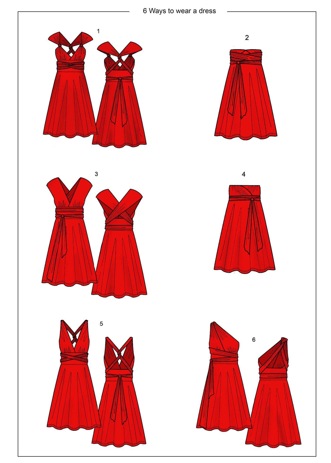 Bodenlanges Kleid mit verschiedenen Tragemöglichkeiten | Bodenlanges ...