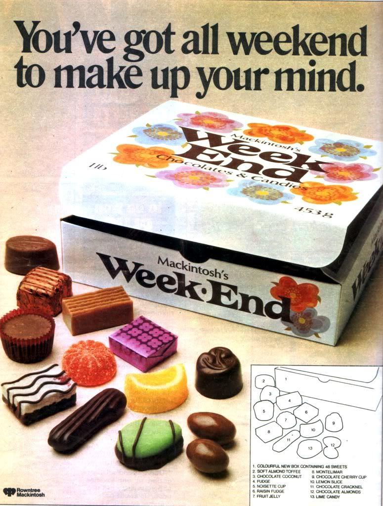 Weekend - box of chocolates | Childhood memories 70s, Childhood memories,  Vintage sweets