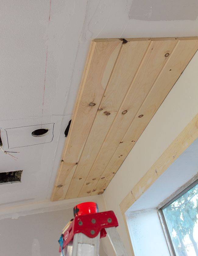 Kitchen Chronicles Diy Tongue And Groove Plank Ceiling