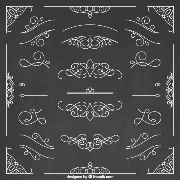 2902c962695e3 Colección de elementos ornamentales dibujados a mano Vector Gratis ...