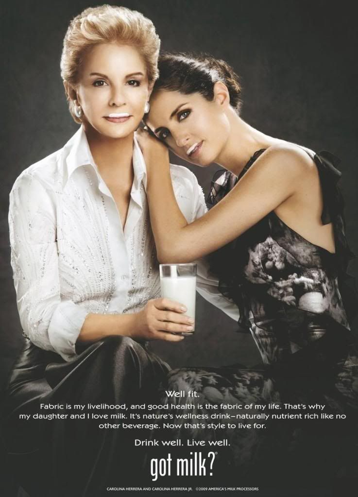 Carolina Herrera And daughter for Milk, 1997 Fashion Designers