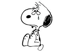 Snoopy crying | Snoopy love, Snoopy images, Snoopy