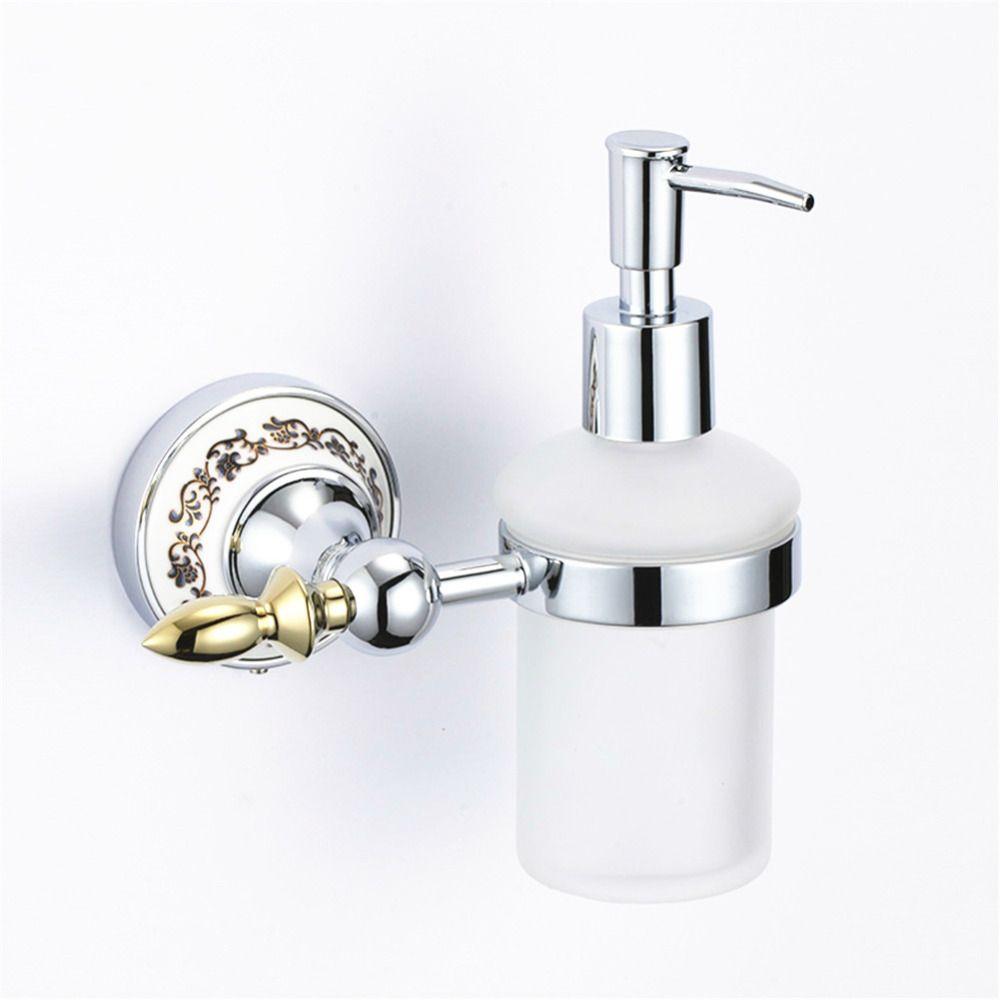 Vintage Ceramic Plated Wash Liquid Soap Dispenser European Gold ...