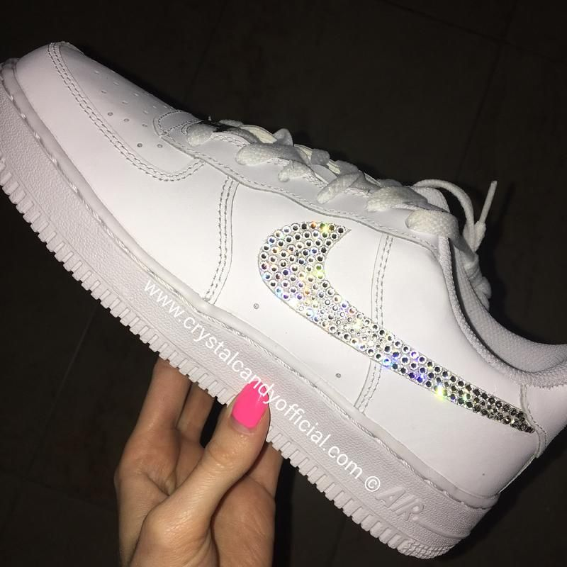 Photo of Crystal Nike Air Force 1 in White (Low)