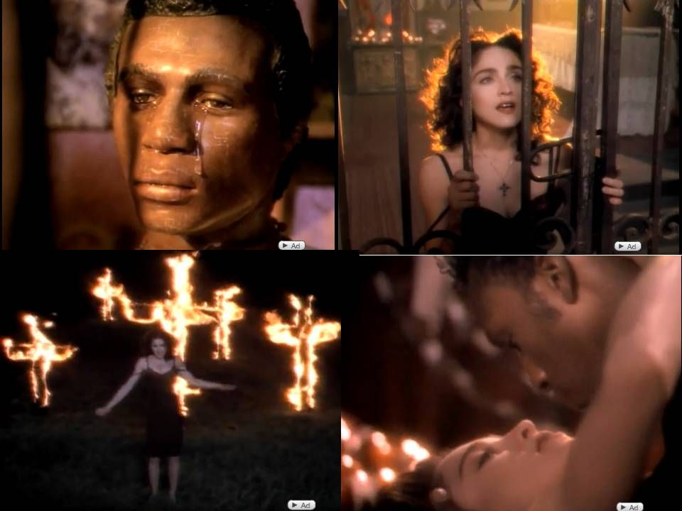 """Madonna's """"Like a Prayer"""" wow...I can remember my Grandfather's words when  he caught me watching this...an… 