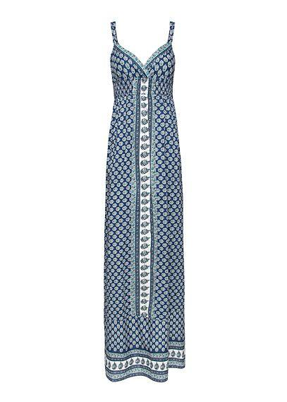 Maxi-vestido estampado algodón by MANGO