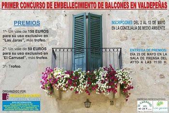 Primer Concurso de Embellecimiento de Balcones en Valdepeñas