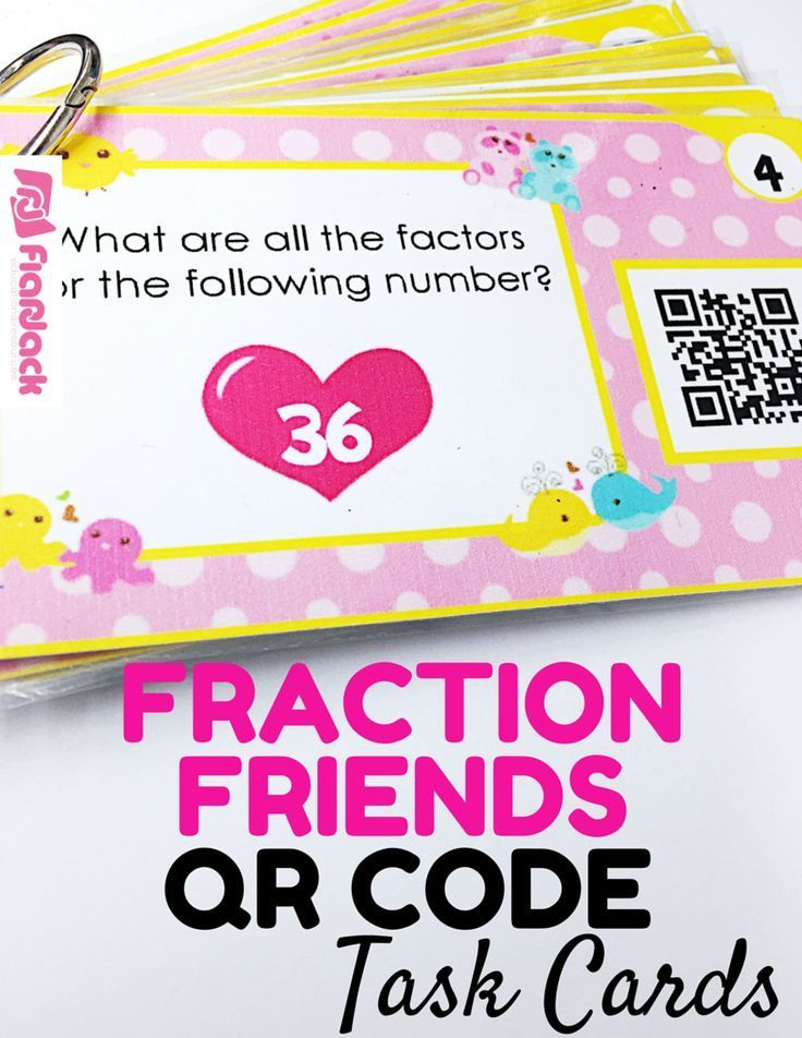 Factor Friends QR Code Task Cards - This title contains 24 self-checking task cards