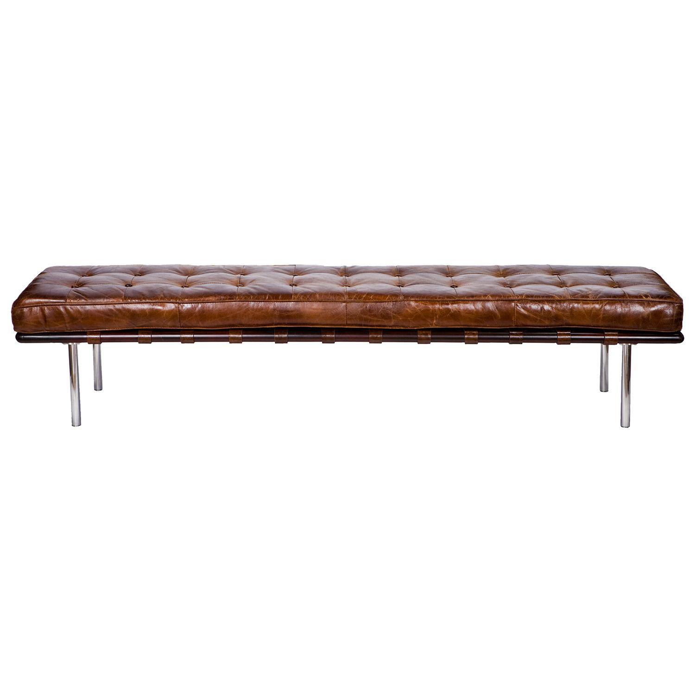 Trade Price $1200 plus shipping - Regina Andrew Vintage Leather Tufted Gallery Bench @Zinc_Door