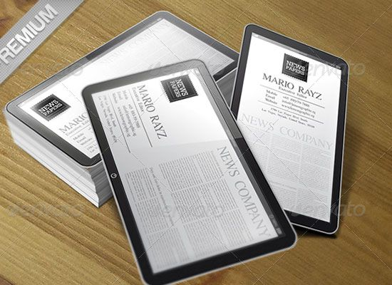 Business cards made to look like an ipad so cool design business cards made to look like an ipad so cool reheart Images