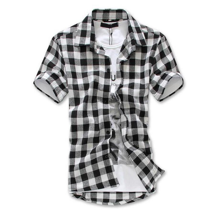Moderno Mens Checkered Shirts Dress Slim Fit Long Sleeve On Down Mod1458ls At Men S Clothing